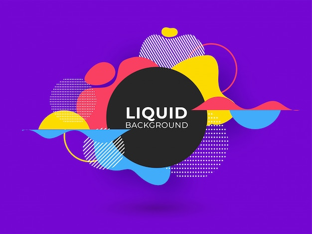Modern liquid colorful abstract background.