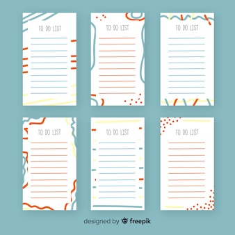 Modern to do list collection with abstract style
