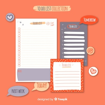 Modern to do list collection with lovely style