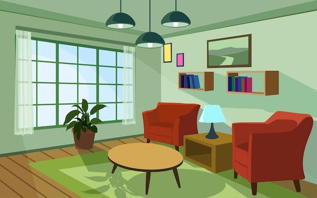 Modern living room illustration