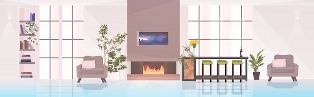Современная гостиная интерьер пустое нет людей квартира с мебелью горизонтальная
