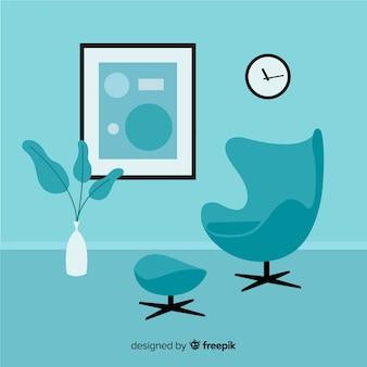 平面设计的现代客厅