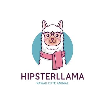 Modern llama logo template