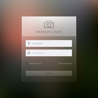現代のログインテンプレートフォームui design