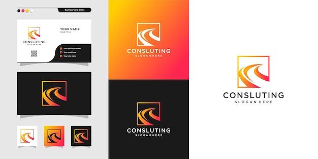 Modern logo for consulting develop advanced company premium vector