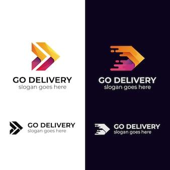 Modern logo design of fast delivery