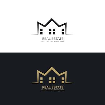 Современный дизайн логотипа для сектора недвижимости