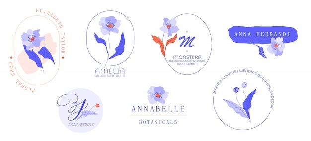 Modern logo design frame set.