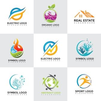 Modern logo design templates set
