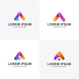 Modern a logo set