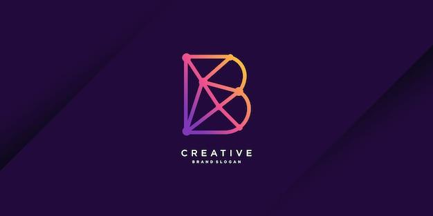 회사 산업 사람 벡터 기술 파트 1에 대한 초기 b가 있는 현대적인 로고