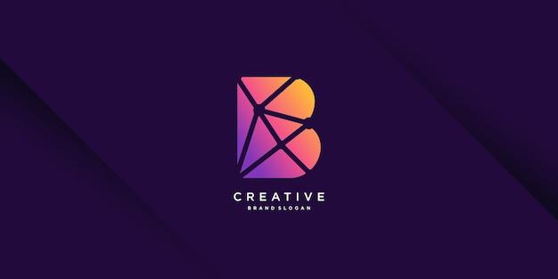 회사, 산업, 사람, 벡터, 기술 부분 8에 대한 초기 b가 있는 현대적인 로고