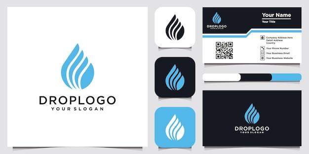 会社の産業技術農業水滴植物の葉のロゴセットのモダンなロゴ