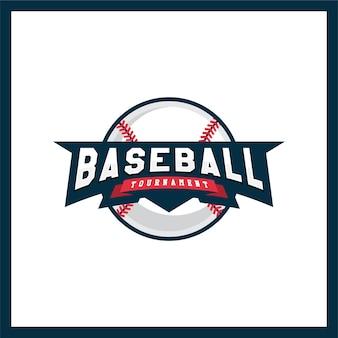 Modern logotype for a baseball league.