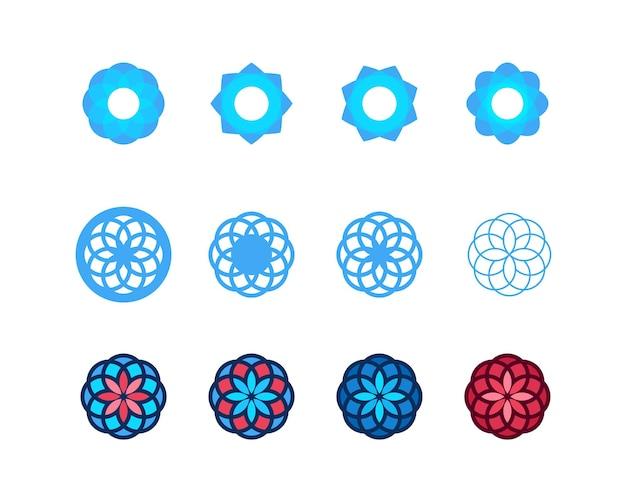 꽃 자연 원 스타일의 현대적인 로고 타입 디자인