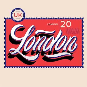 Modern london city lettering