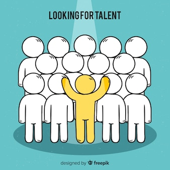 Modern looking for talent concept