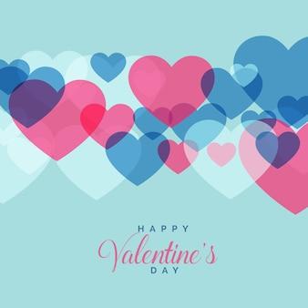 バレンタインデーのために心の形をしたモダンな愛の背景