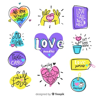 Modern love composition with colorful style