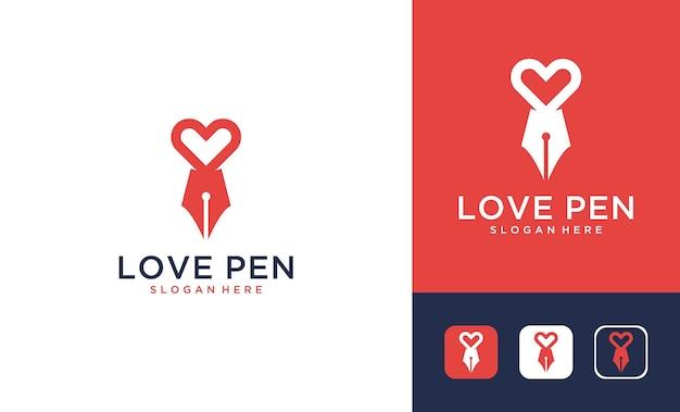 연필 로고 디자인으로 현대적인 사랑
