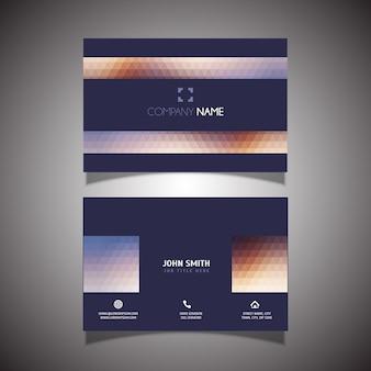 Современный низкополигональная шаблон дизайна визитной карточки
