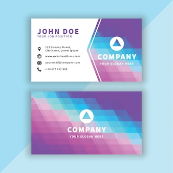 Modern lowpoly business card
