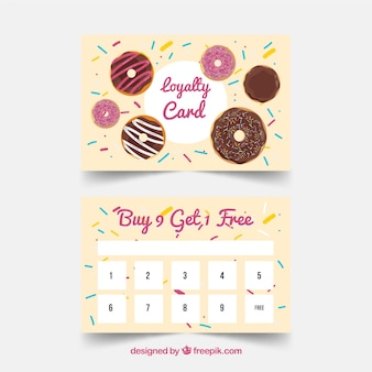 Modern loyalty card template with colorful style