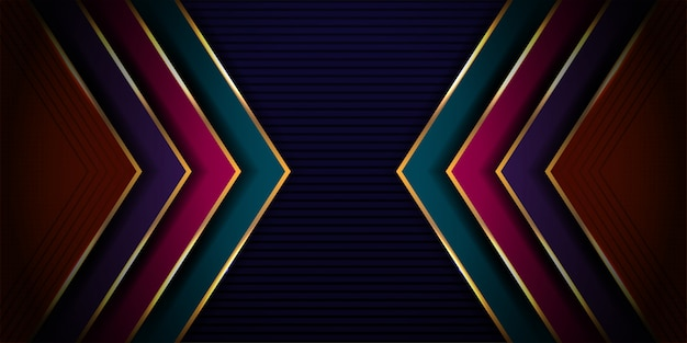 Modern luxurious of dynamic abstract with futuristic design and 3d style background