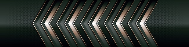 Modern luxury background   overlap layer on dark green and shadow black space with abstract style line golden element decoration