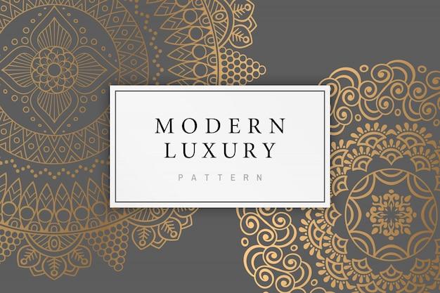 インドの飾りとモダンで豪華なカード