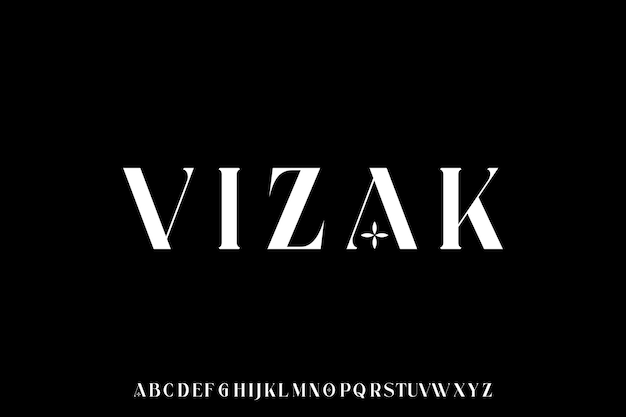 Modern and luxury font