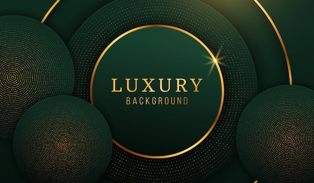 Modern luxury gold circle background, abstract design elements