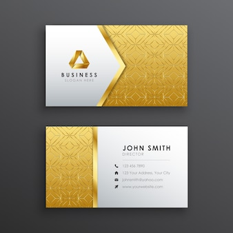 Modern luxury gold and silver business card