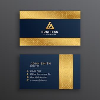 Современный роскошный золотой шаблон визитной карточки