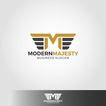 Modern majesty - letter m logo template