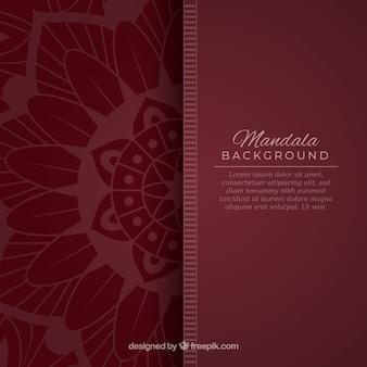 Современный фон мандалы с красочным стилем