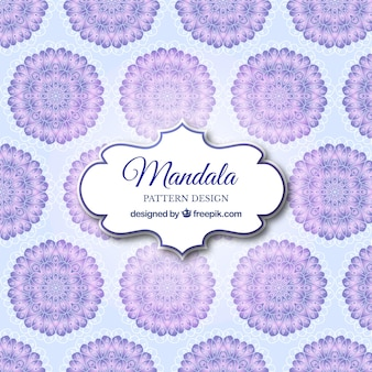 Modern mandala pattern background