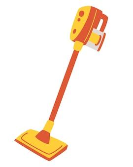 모던 수동 청소기. 가정이나 아파트 및 전문 청소용 진공 청소기. 청소용 전기 장비 기기.