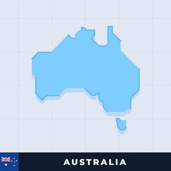 Modern map design of australia