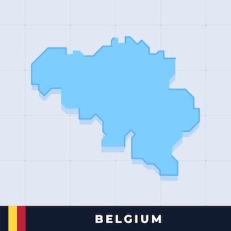 Modern map design of belgium