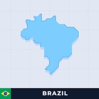 Modern map design of brazil