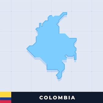 Modern map design of colombia