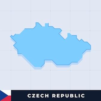 Modern map design of czech republic