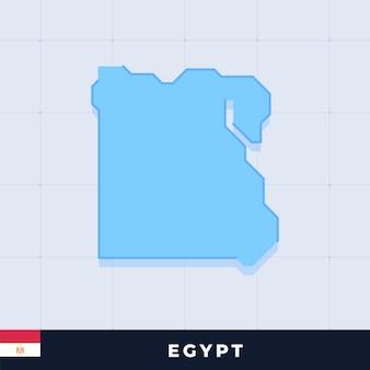 Modern map design of egypt