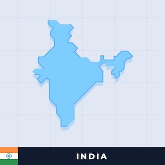 Modern map design of india