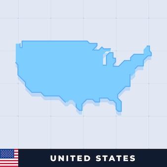 아메리카 합중국의 현대 지도 디자인