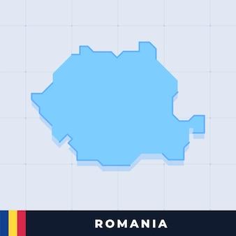 Modern map design of romania