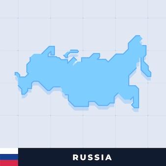 Modern map design of russia