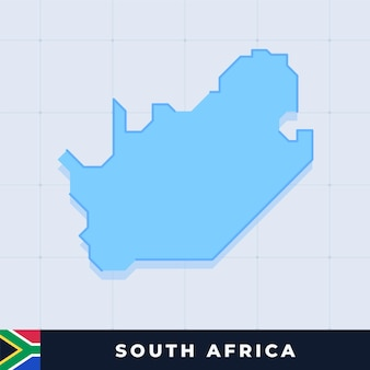 Modern map design of south africa