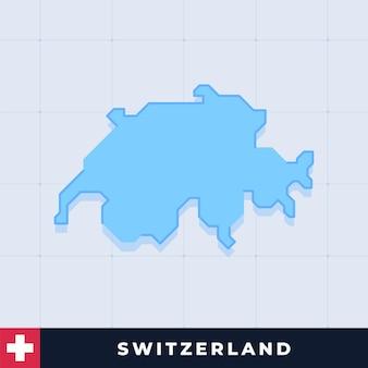 Modern map design of switzerland